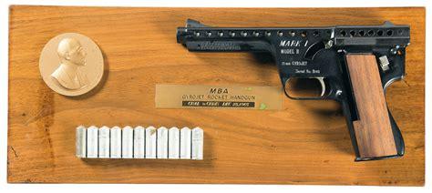 Mba Gyrojet I by Mba I Model B Gyrojet Pistol With Display Pistol