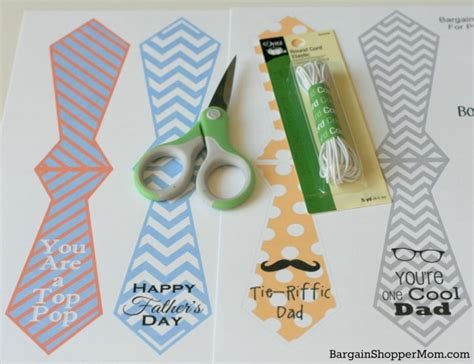 Electronic Gift Cards For Father S Day - diy quick easy gift free father s day printables necktie