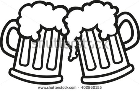 beer cartoon black and white beer mugs cartoon cheers stock vector 402860155 shutterstock