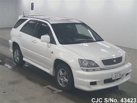 toyota harrier 2000 2000 toyota harrier white for sale stock no 43423