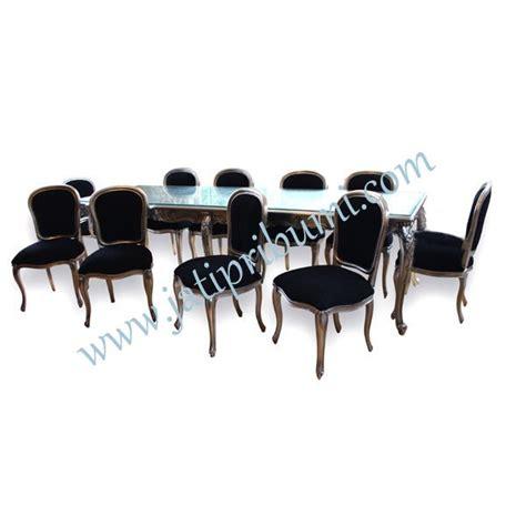 Meja Makan Besar meja makan keluarga besar 10 kursi set jati pribumi