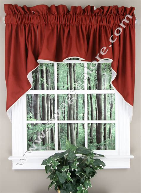 Lined Kitchen Curtains Emmett 36 Quot L Lined Swag Set Sand Stylemaster View All Kitchen Curtains