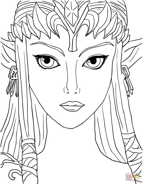 Legend Of Zelda Twilight Princess Coloring Page Free Princess Twilight Coloring Pages Printable