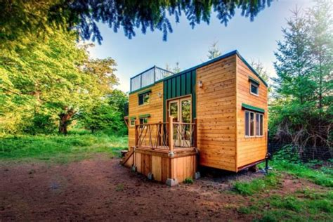 tiny house deck 204 sq ft mountaineer tiny home with rooftop deck