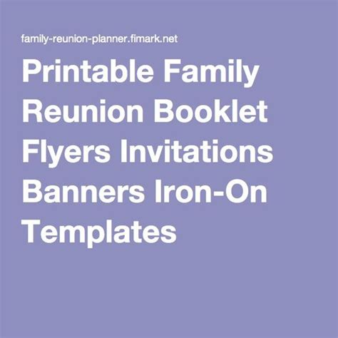 family reunion book template the world s catalog of ideas