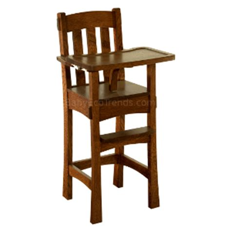 amish high chair arts amp crafts usa made eco friendly