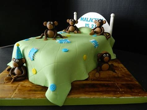 Monkey Jumping Bed by 5 Monkeys Jumping On A Bed Birthday Cake Animals