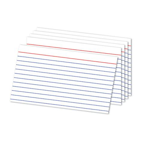 ruled index card template office depot brand ruled index cards 5 x 8 white pack of