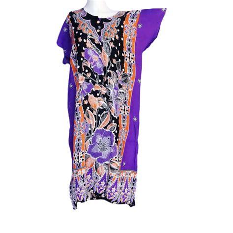 Daster Ungu daster lengan pendek bunga mahkota warna ungu toko grosir