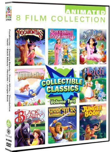 classic collection volume 2 0007336470 animated classics collection volume 2 8 pack pocahontas sleeping beauty snow white