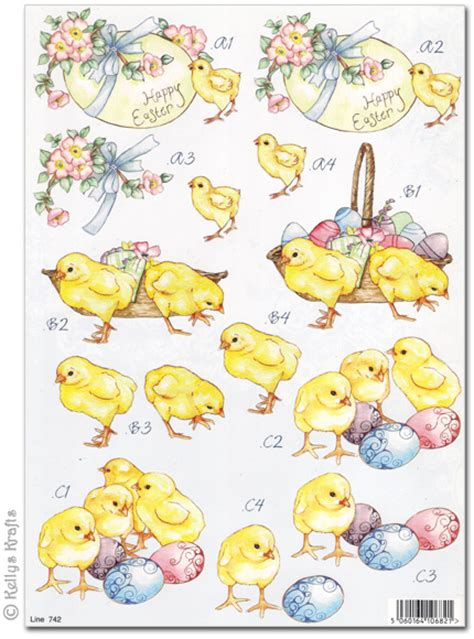 Easter Decoupage - die cut 3d decoupage a4 sheet easter 742 163 1
