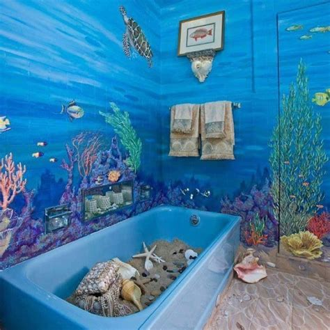 ocean themed bathroom ideas 44 sea inspired bathroom d 233 cor ideas digsdigs