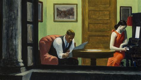 Edward Hopper Room In New York by Sheldon Reopens Permanent Collection Galleries With
