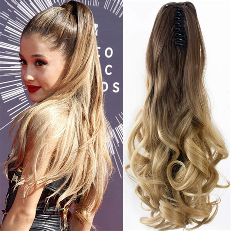 Hairclip Ombreponytailwig 2017 hairpieces 1pcs synthetic wavy pony hair extension curly clip on ponytail 20 quot 50cm