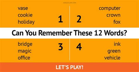 memory test this 12 word verbal memory test will trivia quiz