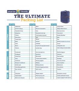 Template For Packing List 40 Awesome Printable Packing Lists College Cruise