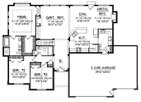 Open Floor Ranch House Plans by 25 Best Ideas About Open Floor On Pinterest Open Floor