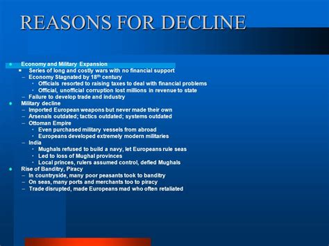 reasons for decline of ottoman empire ottoman empire decline reasons 28 images pre class