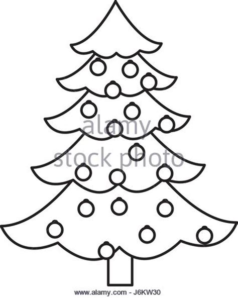 Tree Balls Outline by Ornament Black And White Stock Photos Images Alamy