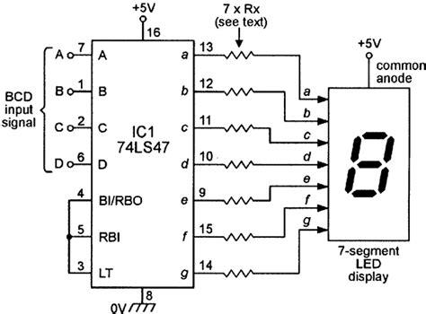 led resistor calculator 7 segment using seven segment displays part 2 nuts volts magazine for the electronics hobbyist