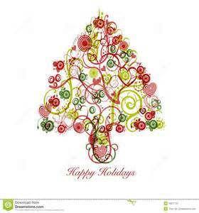 extracto del 225 rbol de navidad con los c 237 rculos de los corazones de los remolinos fotograf 237 a de