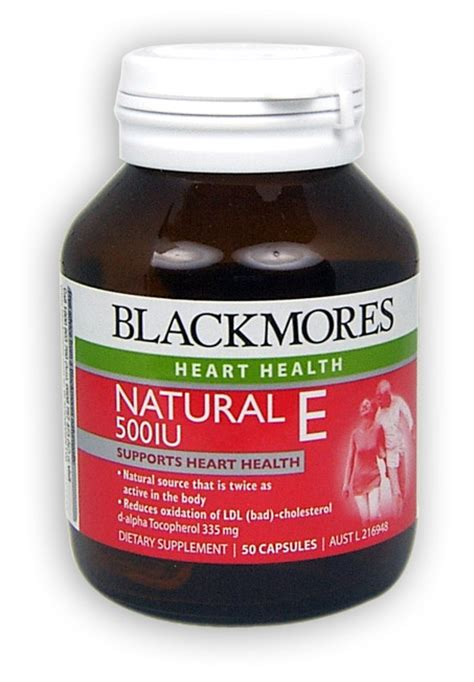 Healthy Care Vitamin E 500iu blackmores e 500iu capsules 50 health delivery