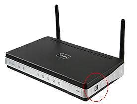 what is the button on the side of d link dgl 4500 router