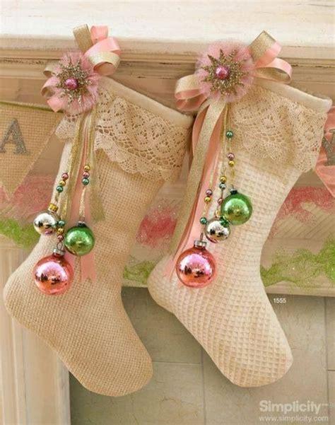Superior Red Personalized Christmas Stockings #8: Shabby+Chic+Christmas+Stockings.jpg