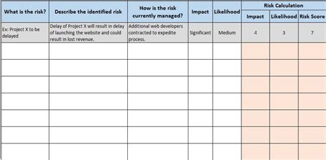 Free Financial Templates In Excel Risk Analysis Template
