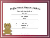 Adoption Certificates   Free Printable Certificates