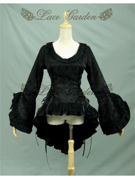 Bloomings Jumbo Ribbon Hitam Blouse black high low blouse for devilnight co uk