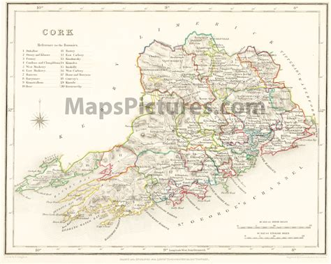 county cork ireland map map of county cork ireland