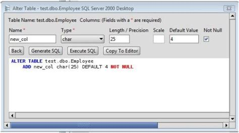 Sql Alter Table Change Column Ms Sql Server Add Column To Ms Sql Server Database Tables Via The Alter Table Command
