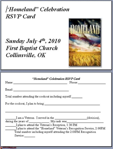 Community Service Invitation Letter Baptist Church Vbs And Veterans Invite June 9 2010 Collinsville Ok Www Cvilleok