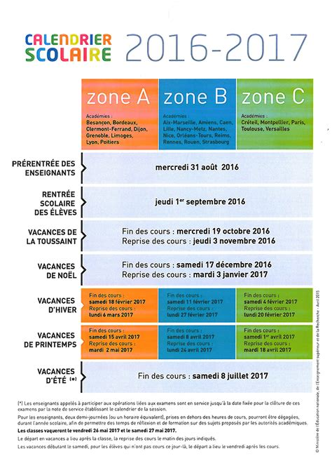 Calendrier 2016 Vacances Scolaires Grenoble Calendrier 2016 Vacances Scolaires