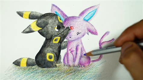 eevee evolution umbreon and espeon drawing cute version