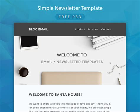 simple newsletter templates simple newsletter template free psd at downloadfreepsd
