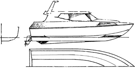 how to draw a boat on a trailer motor boat drawing gallery