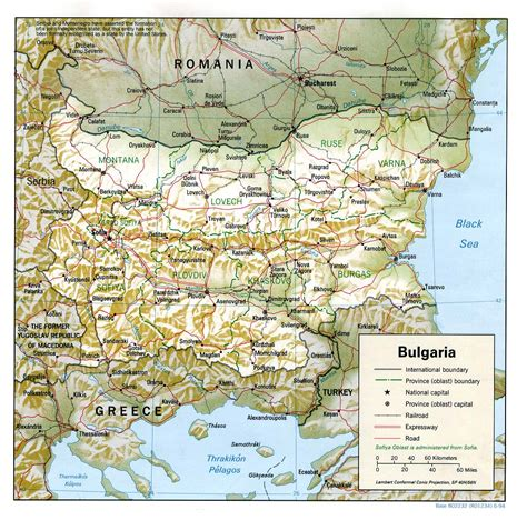 map  bulgaria geography