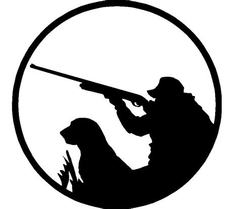 Hunter with Dog Adhesive Car Sticker 2 - ProSportStickers.com Goose Hunting Rifle