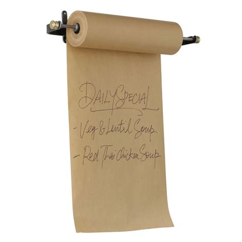 craft table with paper roll holder wall mounted menu holder with kraft paper wbc retail