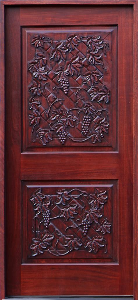 carved exterior doors