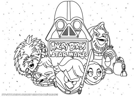 Angry Birds Wars Coloring Pages Printable angry birds starwars free colouring pages