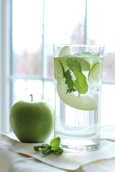 Apple And Cucumber Detox Water by 1000 Ideas About Mint Water On Lemon Mint