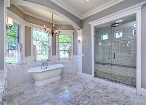 home upgrades marble bathroom with freestanding tub most wanted 11