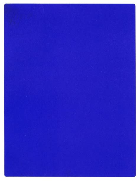 Yves Klein Blue by Spencer Alley Yves Klein Blue
