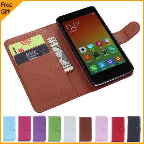 Original Xiaomi Leather Wallet Card Holder Bag luxury original wallet leather flip cover for xiaomi redmi 2 hongmi 2 mobile phone