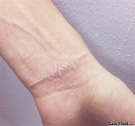 heartbeat tattoo white ink 35 sweet wrist tattoos luvthat