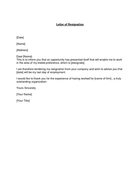 Resignation Letter Terms best photos of proper resignation letter best resignation letter sles work resignation
