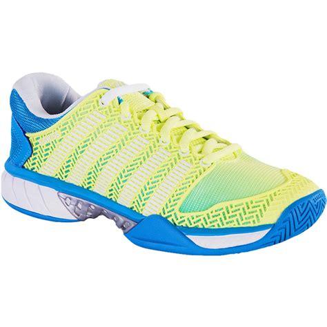 k swiss hypercourt express s tennis shoe blue yellow